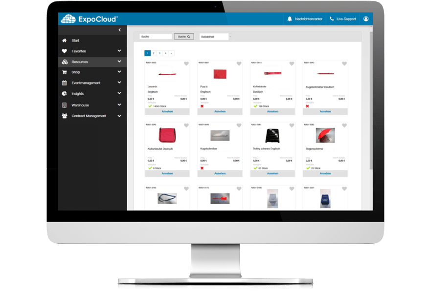 ExpoCloud Werbemittel Management