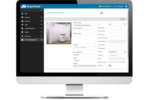 ExpoCloud Contract-Management - Druckdaten-Management